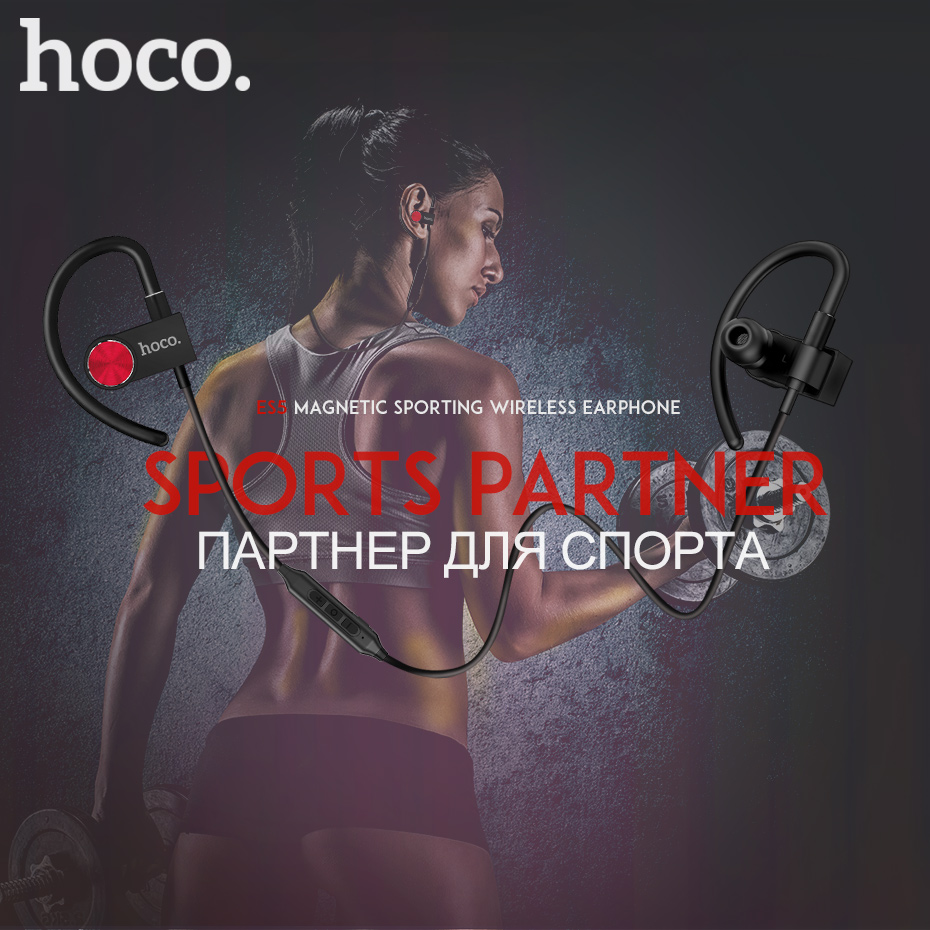 HOCO Running Headset Mini Wireless Bluetooth Earphone Sport Headphones With Microphone Gaming Ear hook Hands Free hifi Earbuds