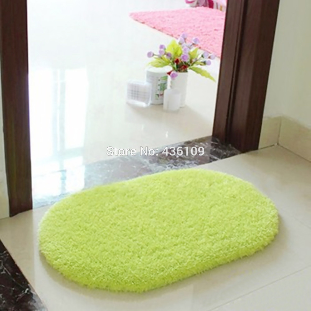 50pcs/lot Fashion Design Hot Sale Rotatable of Super Magic Slip-Resistant Pad Room Oval Carpet Floor mats 40*60CM for Bedroom