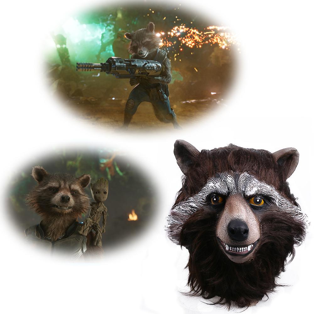 Guardians of the Galaxy 2 Rocket Raccoon Mask Marvel Movie Superhero Groot Peter Quill Helmet Cosplay Mask Halloween Party Prop (8)