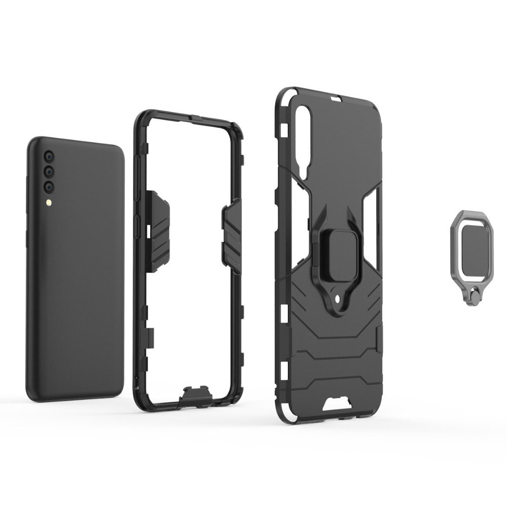Metal-Ring-Case-For-Samsung-Galaxy-A50-Case-Stand-Luxury-Hybrid-PC-Silicone-Car-on-for