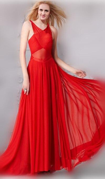 Rihanna Red chiffon long Prom Dress Grammys 2013 Red ...