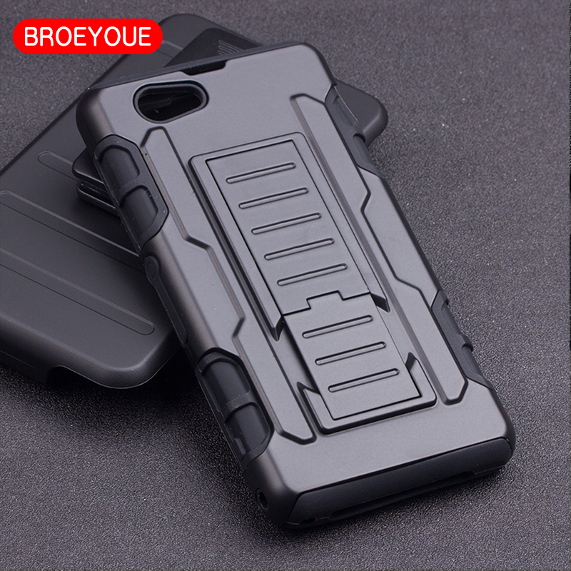 BROEYOUE For Sony Xperia C4 C5 E4 E4G M4 Aqua Z1 Compact Z1 Mini Z5 T2 Ultra Armor Impact Holster Shockproof Hard Case Cover Bag