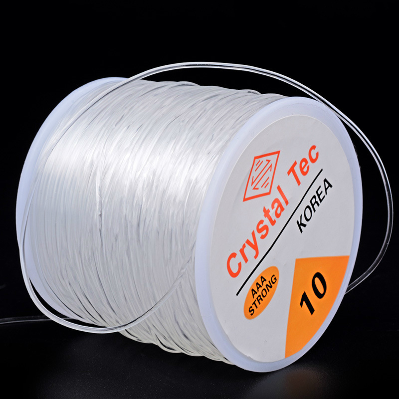 Moq=1pc Cords 0.6/0.7/0.8/1.0/1.2mm Stretch Elastic Transparent Line Beading Rope String Thread Jewelry DIY Bracelet Accessories