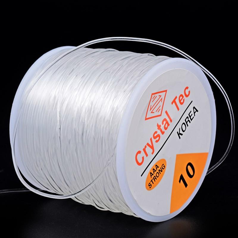 Moq=1pc Cords 0.6/0.7/0.8/1.0/1.2mm Stretch Elastic Transparent Line Beading Rope String Thread Jewelry DIY Bracelet Accessories