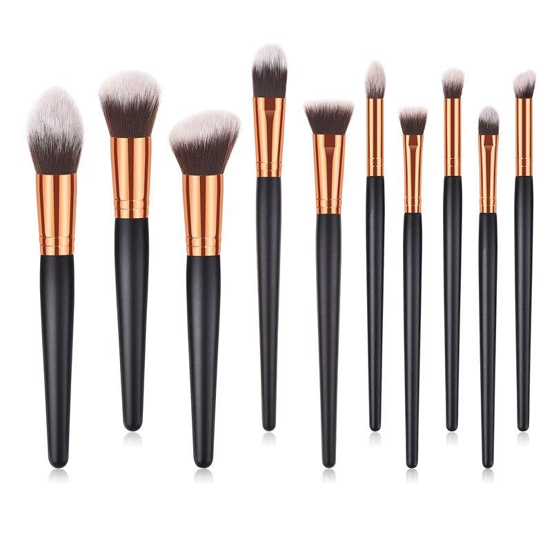 Popular 1 Uds. Cepillos de Maquillaje sombra de ojos colorete de cejas Maquillaje herramienta de cosméticos mango de plástico Brochas Maquillaje herramientas de belleza