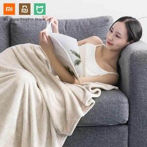 Image 5 - Nieuwe Xiaomi Mijia Como Living Flanel Effen Warme Fluwelen Antibacteriële Deken Anti Statische Voor Lakens En Office Home 3 kleuren