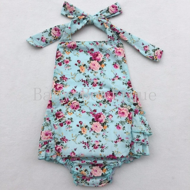 Floral Baby romper sewing pattern floral Bud Ruffle Romper pattern ...