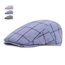 De moda de verano de sol sombreros para hombres casuales de las mujeres de  algodón a cuadros de boina 50e82b127d8