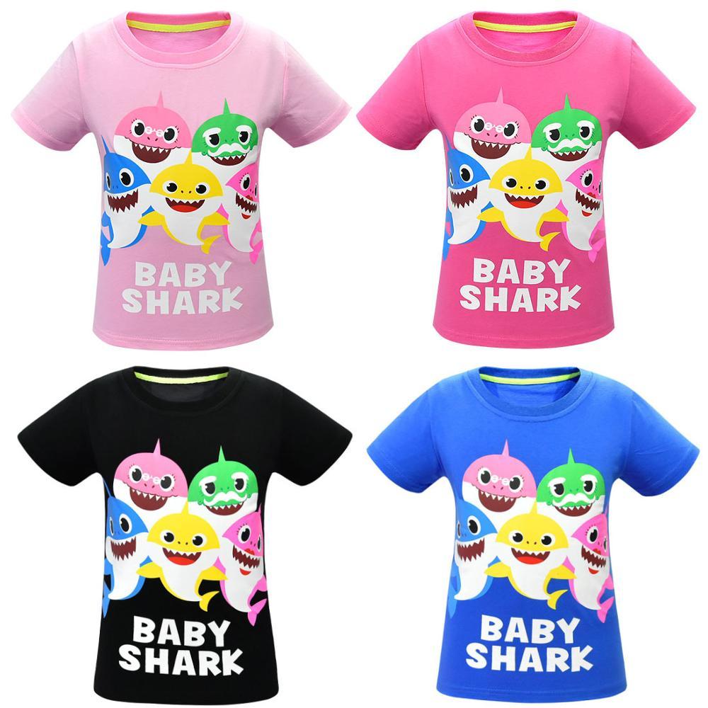 T-Shirt Baby Clothing Grandpa Daddy Girls Children Tops Printing for Sharks