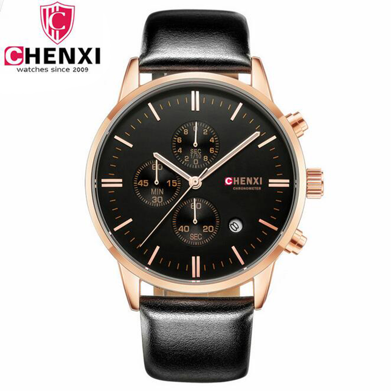 CHENXI New Leather Watch Mens
