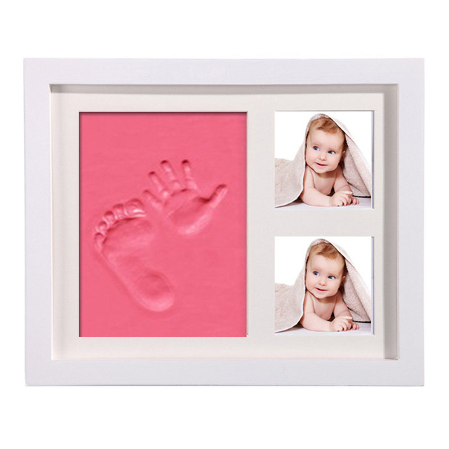 Baby Memorable Hand Footprint Photo Frame Handprint Mud Set Baby Souvenirs DIY Handprint Soft Clay Non Toxic Easy To Use