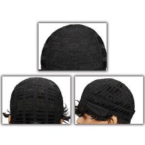 Image 5 - מלוטש ברזילאי רומנטיקה לארוג שיער טבעי פאות רמי לא תחרה מול שיער טבעי פאות לנשים שחורות Perruque Cheveux Humain