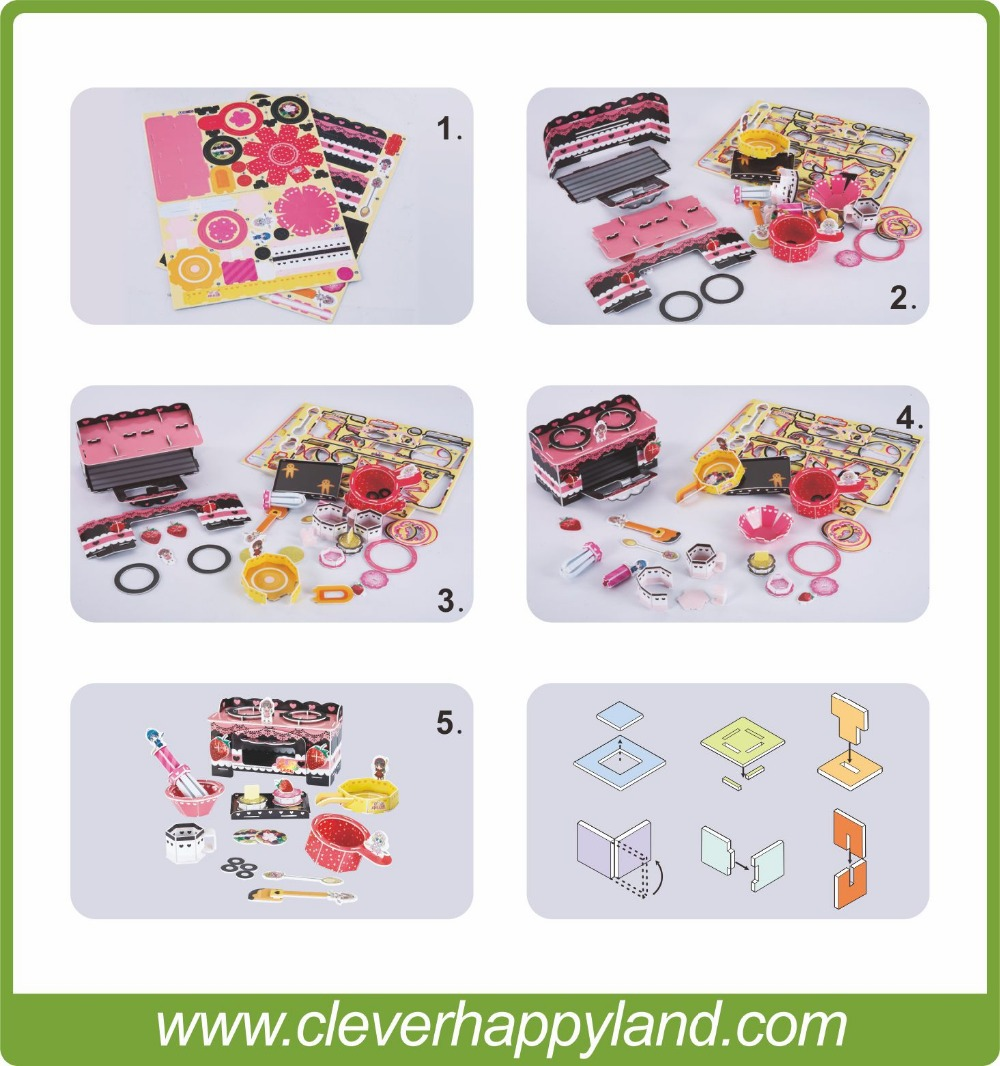 paper model Sweet clever&happy