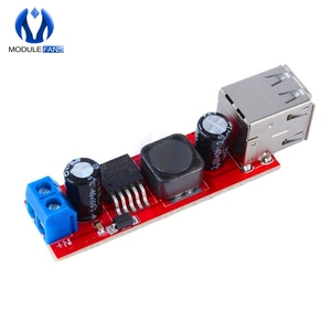 DC 6V-40V To 5V 3A Double USB Charge DC-DC Step Down Converter Module For Vehicle Car Charger LM2596 Dual Two USB(China)