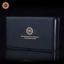 Switzerland Full Set (6pcs) 10,20,50.100.200.1000Franc  Gold Banknote Album , One Certificate And Swiss Leather Case