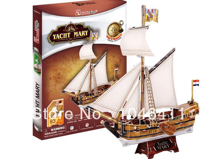 YACHT MARY CubicFun 3D educational puzzle Paper & EPS Model Papercraft Home Adornment for christmas gift petronas towers cubicfun 3d educational puzzle paper