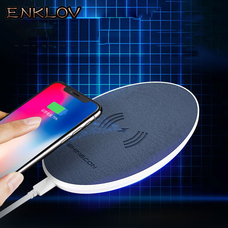 ENKLOV New for iphoneX 8 8plus Wireless Charging Qi Slim Wireless Charger 5W Fast Chargi ...