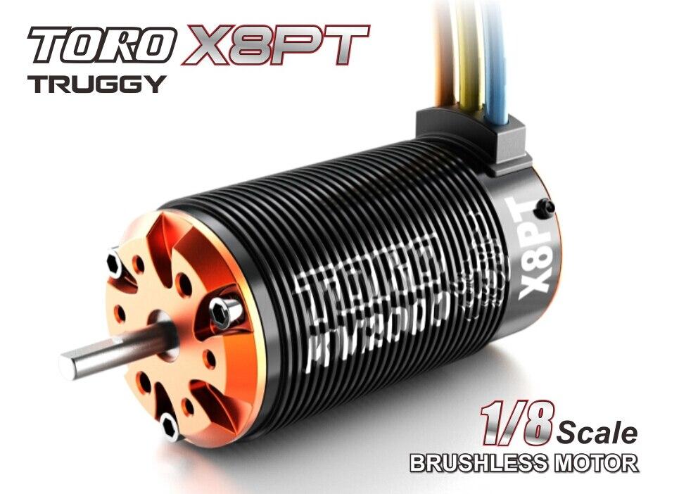 Skyrc toro x8pt motore per 1/8 monster truck rc auto 6 pole rotore 1350kv/1550kv/1750kv-in Componenti e accessori da Giocattoli e hobby su  Gruppo 1