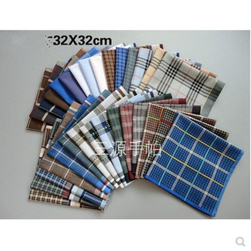 Child's Handkerchief Cotton Handcuffs Pocket Towel Handkerchief 12Pcs/Lot32*32