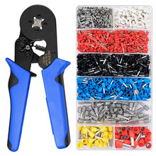 Self-Adjustable Crimping Plier + Crimping Terminals Connector Sets 0.08-10mm2 Wire Cable Press Pliers Ratchat Wire Crimping Tool