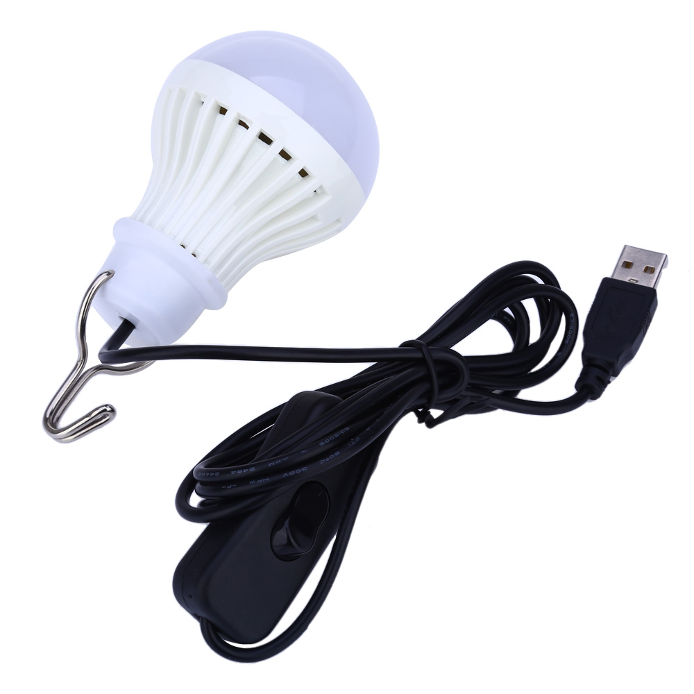 Healthy Souse LED Lamp Night Light USB Powered E27 5W LED Bulb 5730SMD Low Power Consumption For Camping