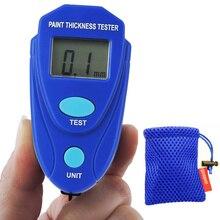 Digital Mini Coating Thickness Gauge 0~2.0mm Car Film Zinc Paint Thickness Meter Paint Thickness tester Measurement Tool