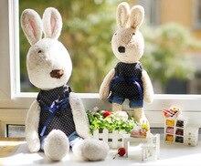 pernycess 1pcs60cm black dots genuine lesucre Sugar rabbit plush toy  colors: white brown