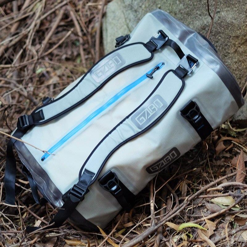 Gzlbo 90L ТПУ большой Ёмкость Мода герметичной Шторм серый дорожная сумка Водонепроницаемый погружной вещевой мешок