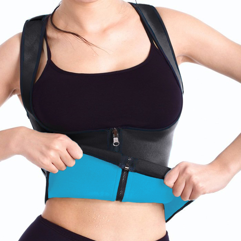 LELINTA Hot Neoprene Sweat Sauna Body Shapers Tummy Control Top Slimming Vest Shapewear Weight Loss Waist Shaper Corset S-3XL