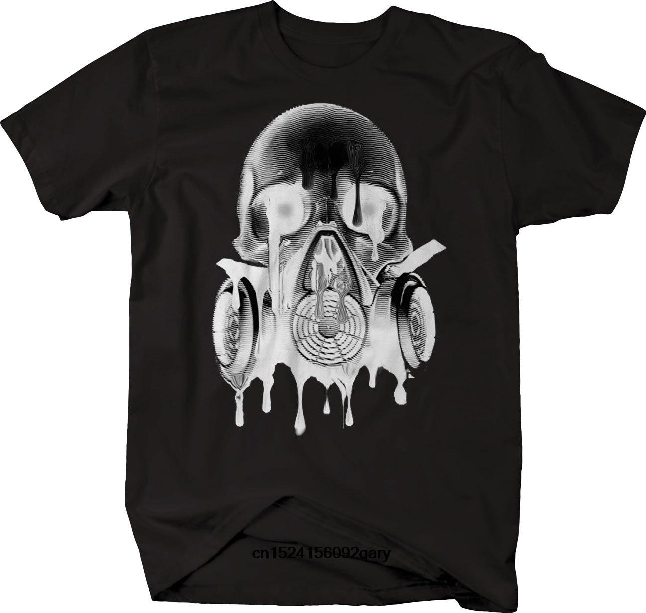 Tops & Tees Melting Skull Gas Mask Goth Rock Hardcore Tshirt T-shirts Men Funny T Shirt Women Cool Tshirt Retro