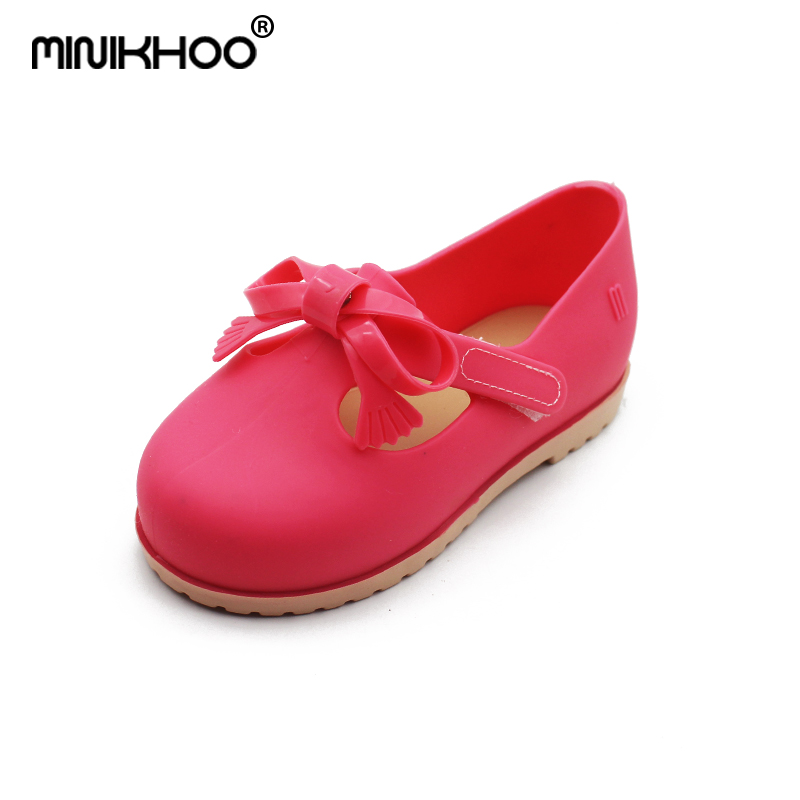 Mini Melissa 2018 New Brazilian Brand Children Sandals Breathable Toddler Sandals Melissa Jelly Shoes 14cm-16.5cm Beach Sandals