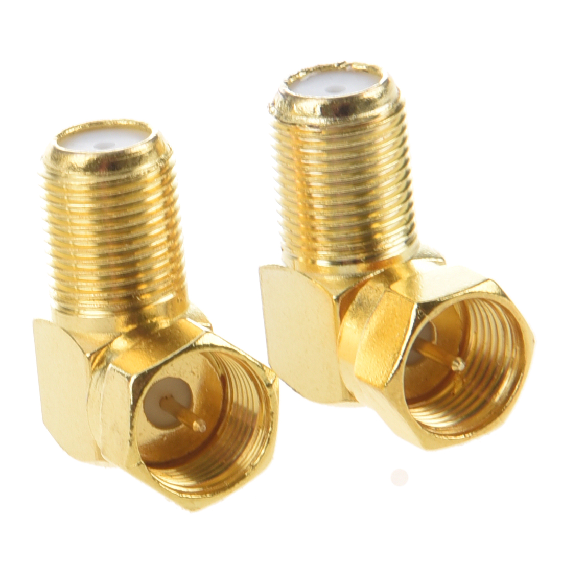 2pcs F Male Plug to F Female Jack Right Angle RF Coaxial Adapter Connector adapter 10pcs 90 f female to iec pal dvb t tv female connector right angle f f