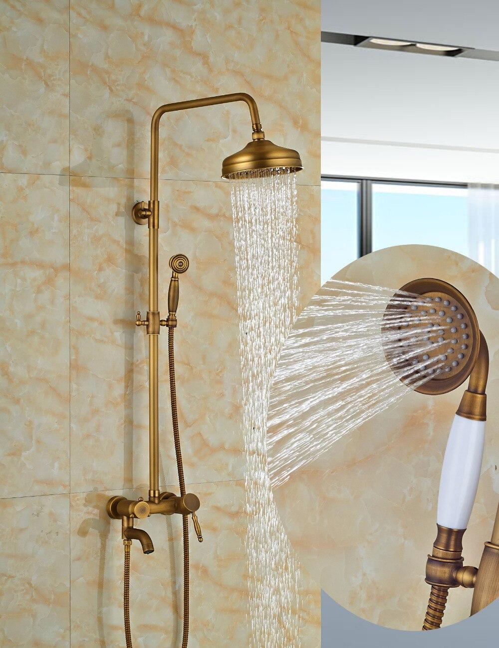 Wholesale And Retail Round Rain Shower Head Faucet Swivel Spout Tub Spout Valve Mixer Tap 8 Shower Faucet Shower Column