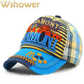 Children Plaid Baseball Cap Hip Hop Striped Snapback Kids Hat Fashion Trucker Basketball Cap Hiphop Hunting Sun Hat For Boy Girl