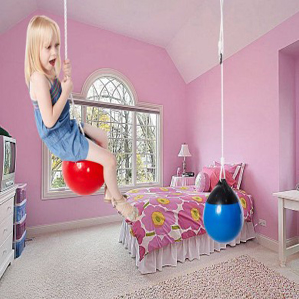 Swing Ball Seat for Kids with Adjustable Ropes Durable PVC Buoy Ball Swing for Tree Indoor