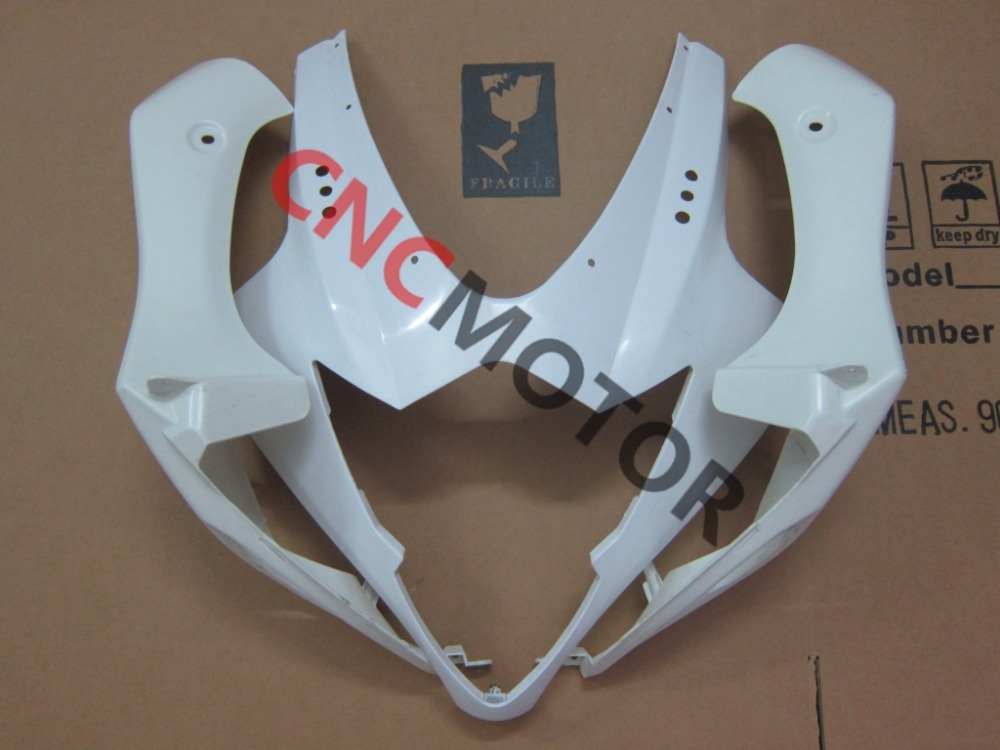 3 pieces Unpainted ABS Injection Mold Upper Front Nose Fairing Kit Body Work For Suzuki GSX-R GSXR1000 2005-2006  injection mold unpainted upper front fairing cowl nose fits for suzuki 2006 2007 gsxr 600 750 k6 abs
