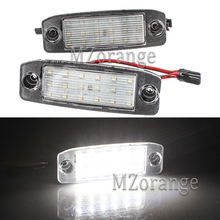 2Pcs LED 18-SMD Car Number License Plate Light For Kia Sportage 2011 2012 2013 2014 2015 Car-Styling White