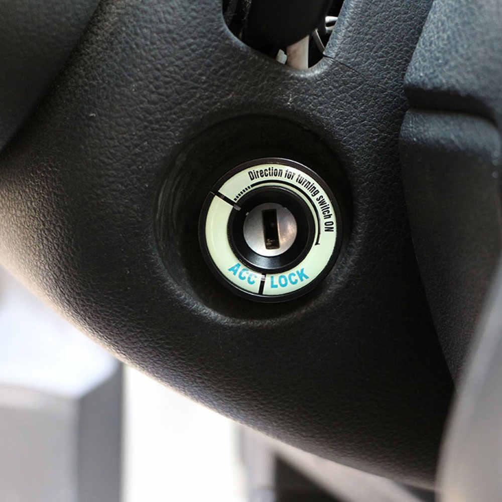 Zlord Auto Styling Leuchtende Taste Zündung Ring Dekoration Trim Aufkleber für SEAT Leon Ibiza CUPTRA Zubehör