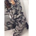New Spring Autumn women sweater suits Camouflage printed long-sleeved casual sportswear suit hoodies 2 piece leisure Sets C2
