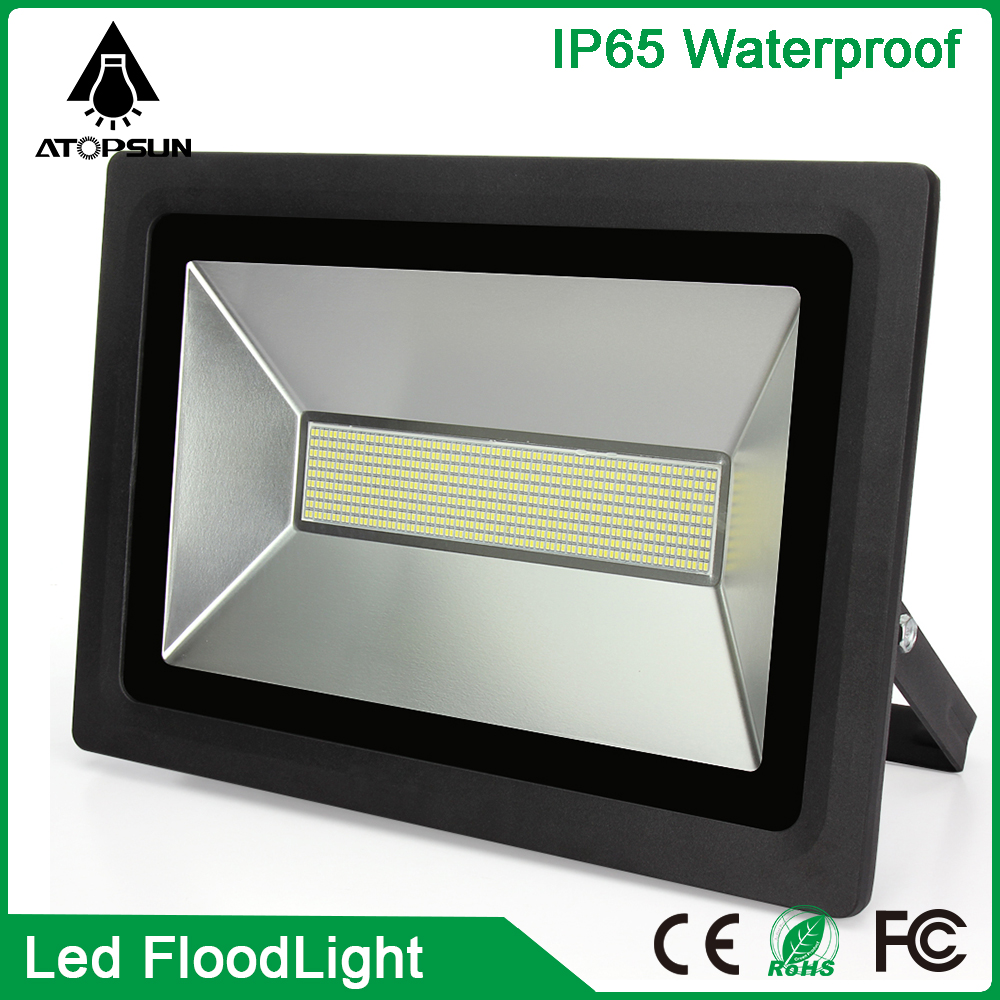 1pcs New LED Flood Light 220V 110V LED Outdoor Spotlight 100W 150W 200W 300W 500W LED Floodlight Waterproof IP65 Reflector led ultrathin led flood light 200w ac85 265v waterproof ip65 floodlight spotlight outdoor lighting free shipping