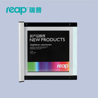 Reap 3103 Shopia Acrylic 210 210mm Indoor Horizontal Wall Mount Sign Holder Display INFO Poster Elegant