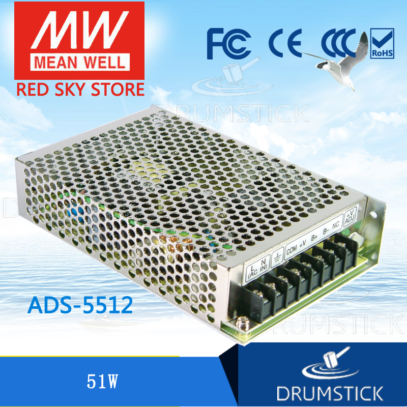 Hot sale MEAN WELL ADS-5512 12V meanwell ADS-55 51W Single Output with 5V,4A DC-DC Converter ads 132mc