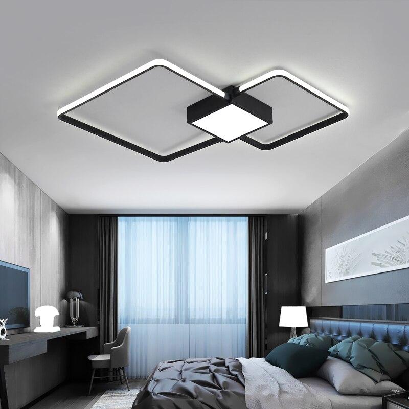 Moderne LED Plafonniers Pour Le Salon Chambre Étude lamparas de techo Blanc/Noir LED Plafond Lampe Éclairage À La Maison AC85-265V
