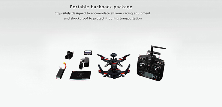 Walkera Runner 250 Advance with DEVO 7 Racing GPS FPV RC Quadcopter RTF 2.4GHz (with 1080P Camera & OSD & Backpack & Battery & Charger)