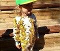 2016 детская одежда тигр печатные мальчики девочки футболка брюки дети комплект одежды roupas infantis menina бобо выбирает