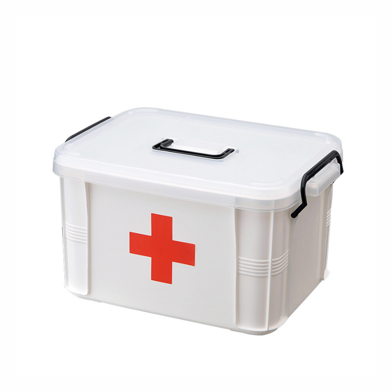 Family First Aid Kit Medical Box White Plastic 2 Layer Portable Outdoor Survival First Aid Kit Treatment Drug Storage Box Hot