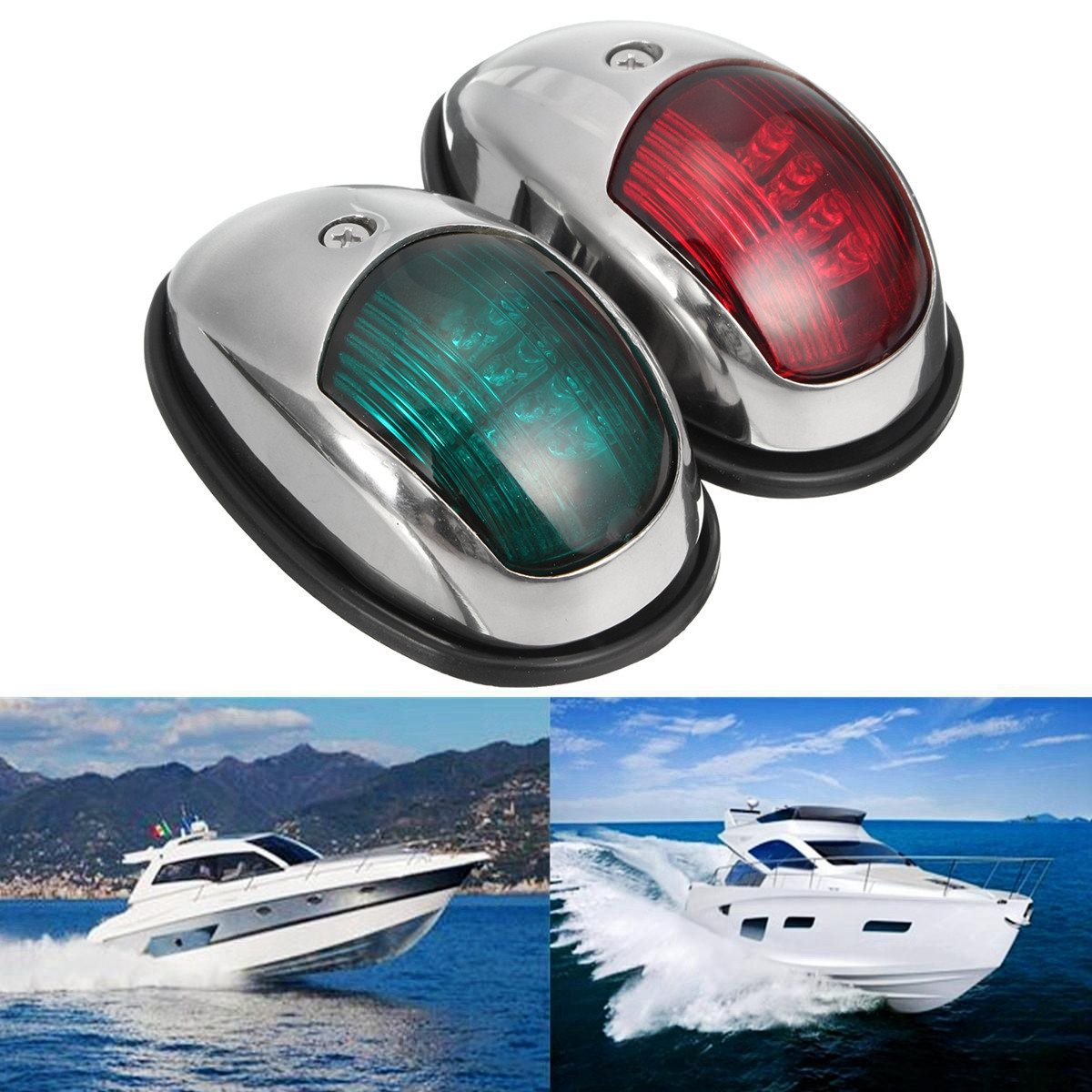 Stainless Steel LED Navigation Lamp Marine Port Side Starboard font b Light b font 12V 5W
