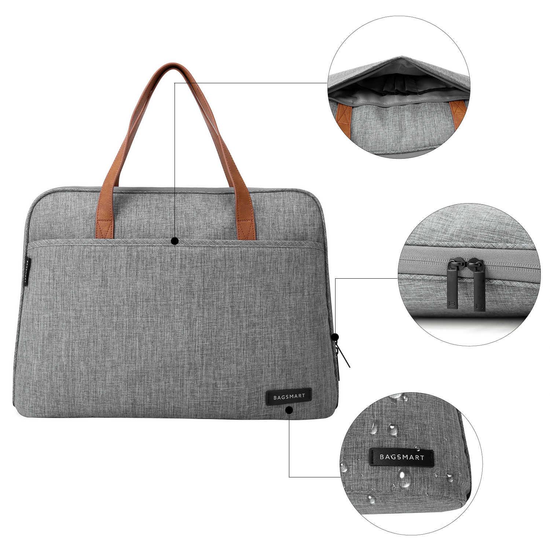 BAGSMART 14 Polegada Laptop Maleta Sacos Do Mensageiro Causal Bolsa de Moda Nylon Saco de Laptop À Prova D' Água Leve