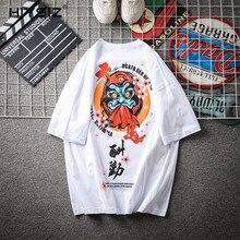 HIYSIZ NEW T-Shirt 2019 Harajuku style large size casual streetwear printed o-neck short-sleeved fashion trend T-shirt ST410