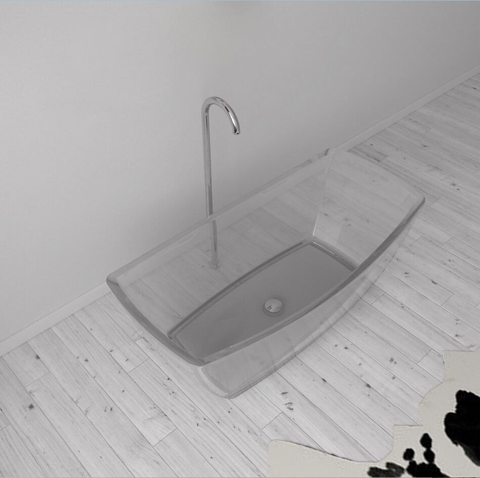1600x800x580mm nouveau design résine acrylique baignoire